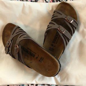 Birkenstock Granada BirkiBuc sandals, brown